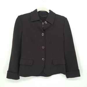 Maxmara 100% Virgin Wool Brown Blazer Jacket 2